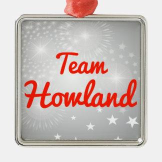 Team Howland Square Metal Christmas Ornament