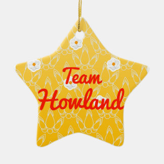 Team Howland Double-Sided Star Ceramic Christmas Ornament