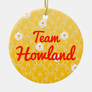 Team Howland Double-Sided Ceramic Round Christmas Ornament