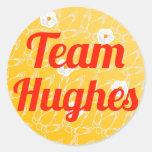 Team Hughes Round Sticker