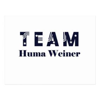 TEAM Huma Weiner Postcard
