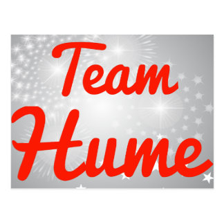 Team Hume Postcard