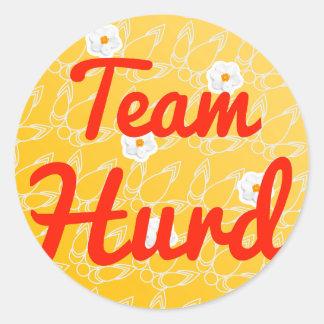 Team Hurd Classic Round Sticker
