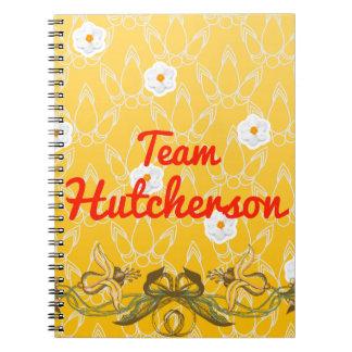Team Hutcherson Spiral Notebook