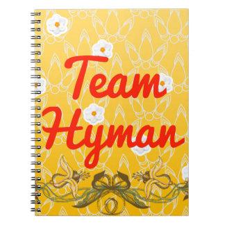 Team Hyman Spiral Notebook