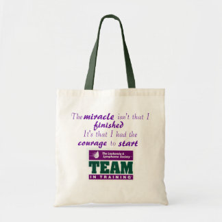Team in Training - Courage to Start Budget Tote Bag