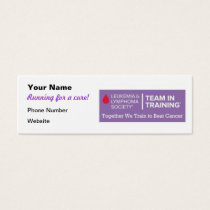Team in Training Fundraising Cards