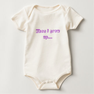 Team in Training - When I grow up... Baby Bodysuit