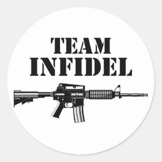 Team Infidel 2 Round Stickers
