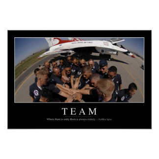Team: Inspirational Quote 2 Poster