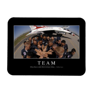 Team: Inspirational Quote 2 Rectangular Photo Magnet