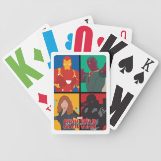 Team Iron Man Iconic Silhouettes Bicycle Playing Cards