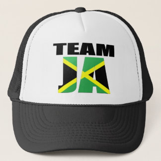 Team Ja Jamaican Flag Trucker Hat