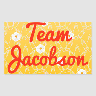 Team Jacobson Rectangle Sticker