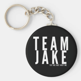 Team Jake Block Design Key Chain