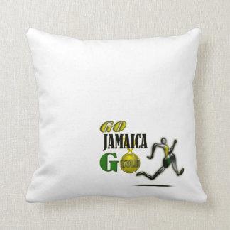 Team Jamaica Athletics Fan Throw Pillow