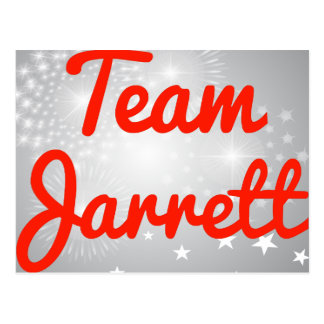 Team Jarrett Postcard