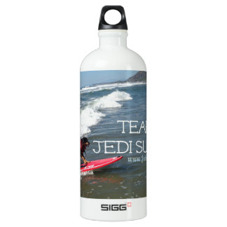Team Jedi Surfs Line Aluminum Water Bottle