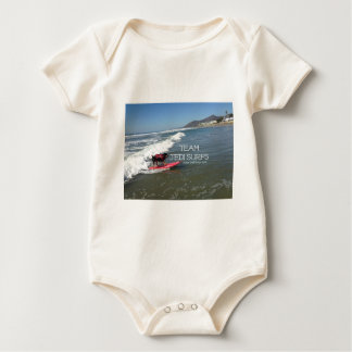 Team Jedi Surfs Line Baby Bodysuit