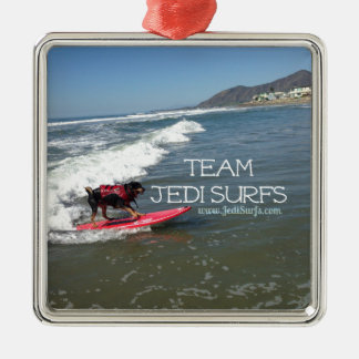 Team Jedi Surfs Line Metal Ornament