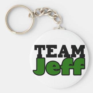 Team Jeff Basic Round Button Keychain
