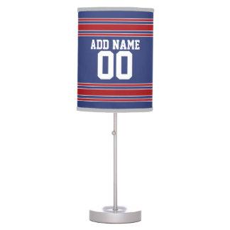 Team Jersey Stripes Custom Name and Number Desk Lamp