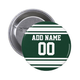 Team Jersey with Custom Name and Number 2 Inch Round Button