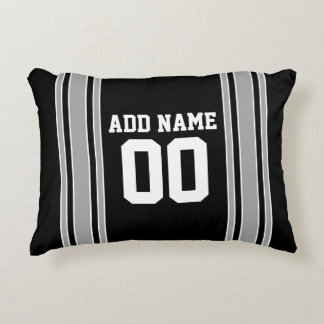 Team Jersey with Custom Name and Number Accent Pillow