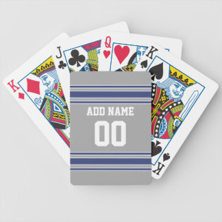 Team Jersey with Custom Name and Number Bicycle Playing Cards