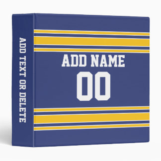 Team Jersey with Custom Name and Number 3 Ring Binder