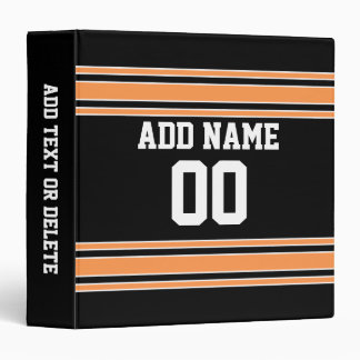 Team Jersey with Custom Name and Number Vinyl Binders