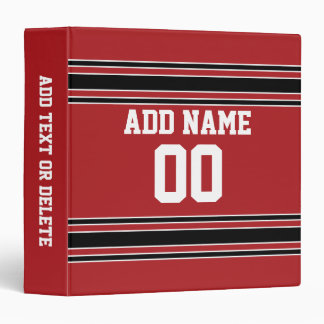 Team Jersey with Custom Name and Number Binder