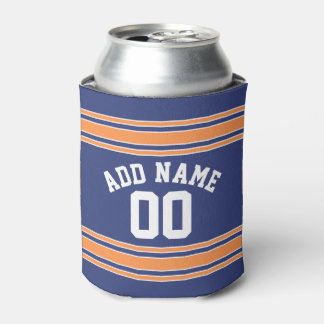 Team Jersey with Custom Name and Number Can Cooler