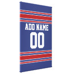 Team Jersey with Custom Name and Number Canvas Print