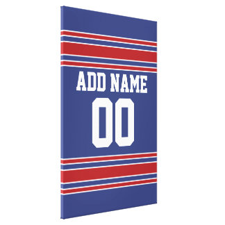 Team Jersey with Custom Name and Number Gallery Wrap Canvas