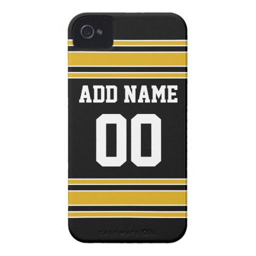 Team Jersey with Custom Name and Number iPhone 4 Case-Mate Cases