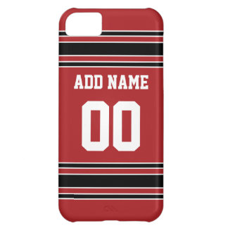 Team Jersey with Custom Name and Number iPhone 5C Cases