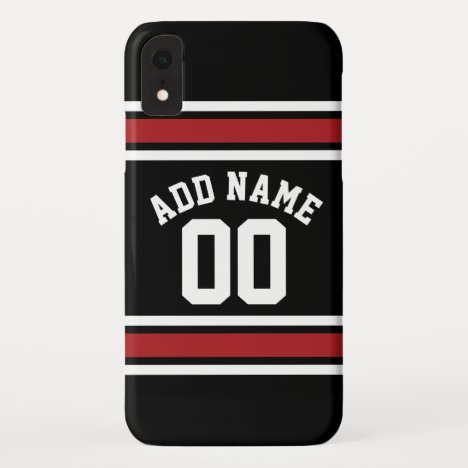 Team Jersey with Custom Name and Number iPhone XR Case