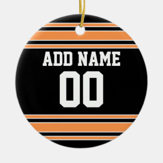 Team Jersey with Custom Name and Number Ceramic Ornament
