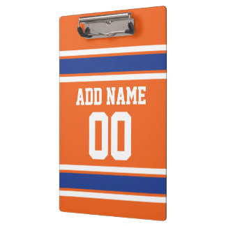 Team Jersey with Custom Name and Number Clipboard