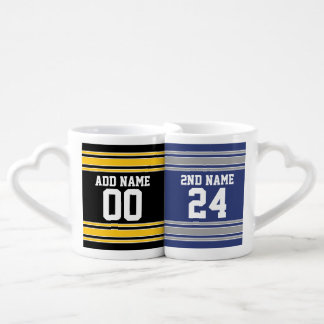 Team Jersey with Custom Name and Number Coffee Mug Set