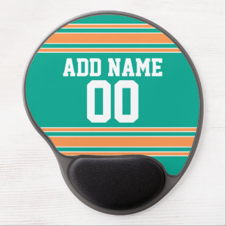 Team Jersey with Custom Name and Number Gel Mouse Pad