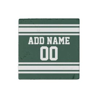 Team Jersey with Custom Name and Number Stone Magnet