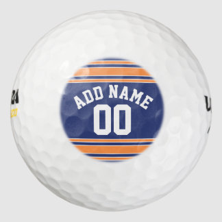 Team Jersey with Custom Name and Number Golf Balls