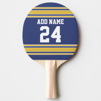 Team Jersey with Custom Name and Number Ping-Pong Paddle
