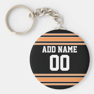 Team Jersey with Custom Name and Number Keychain