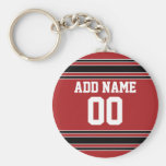 Team Jersey with Custom Name and Number Keychains