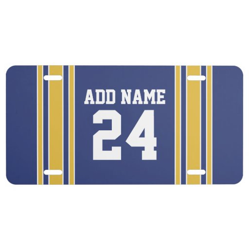 Team Jersey with Custom Name and Number License Plate Zazzle