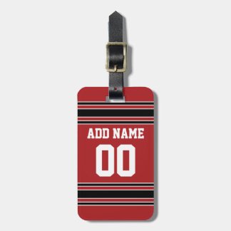 Team Jersey with Custom Name and Number Travel Bag Tags
