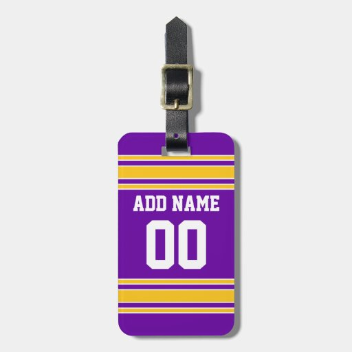 Team Jersey with Custom Name and Number Tag For Luggage